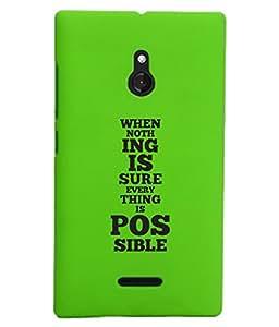 KolorEdge Back Cover For Nokia XL - Green (1910-Ke15182NokiaXLGreen3D)