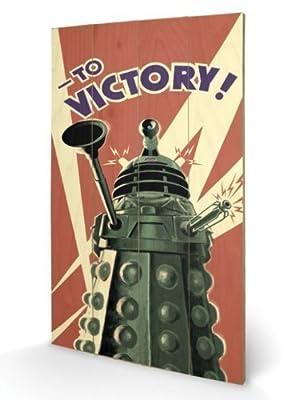 Doctor Who Daleks A la Victoire Décoration murale en bois-Dimensions : 45 x 76 cm (18 x 30 cm