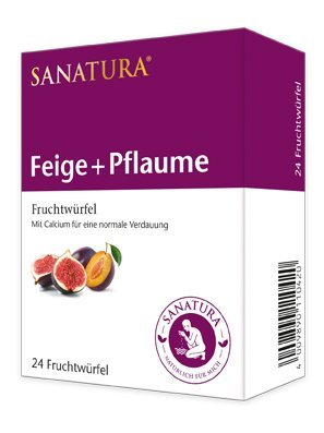 Sanatura Feige-Pflaume Früchtewürfel 24er
