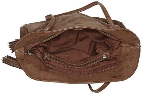 s.Oliver - 39.609.94.7790, Borsa shopper Donna Marrone (Braun (cognac 8768))