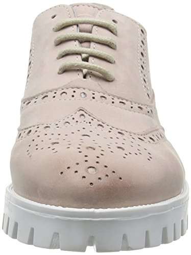 Sparare Scarpe Sh-160070s Ladies Summer Chunkies Lace-up Derby Ivory (fard)
