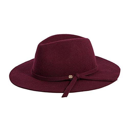 Chapeau d'hiver automne/chapeau de mode Britannique/Chapeau de feutre gros fashion printemps/été B