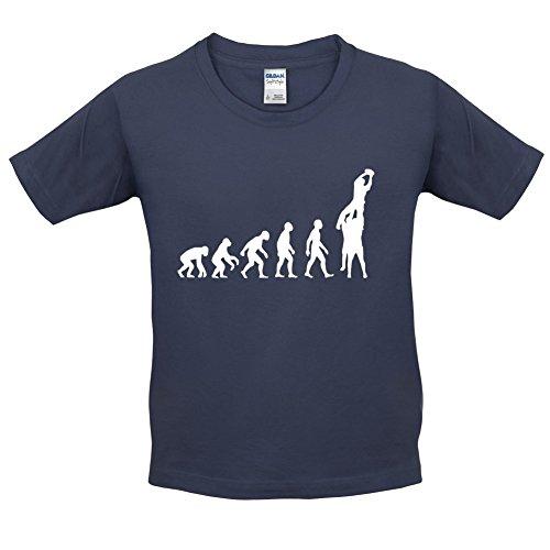 Evolution of Rugby Gasse - Kinder T-Shirt - Navy - XL (12-14 Jahre) (Kleinkinder Rugby-shirts)