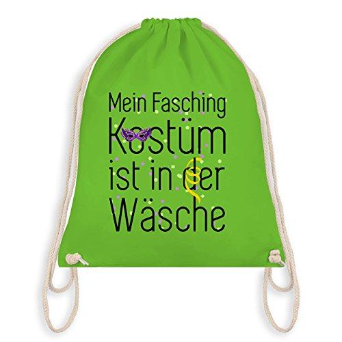 Karneval & Fasching - Mein Fasching Kostüm ist in der Wäsche - Unisize - Hellgrün - WM110 - Turnbeutel & Gym Bag