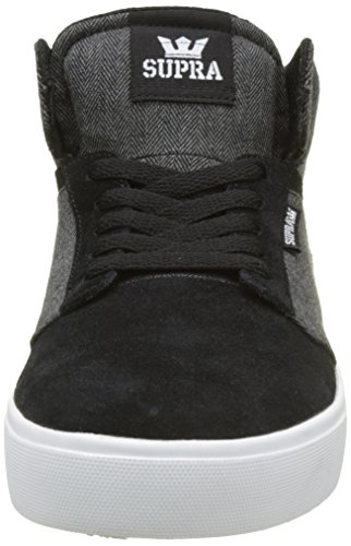Supra - Yorek Hi, Sneaker alte Unisex - Adulto Nero (Schwarz (BLACK - WHITE BKW))