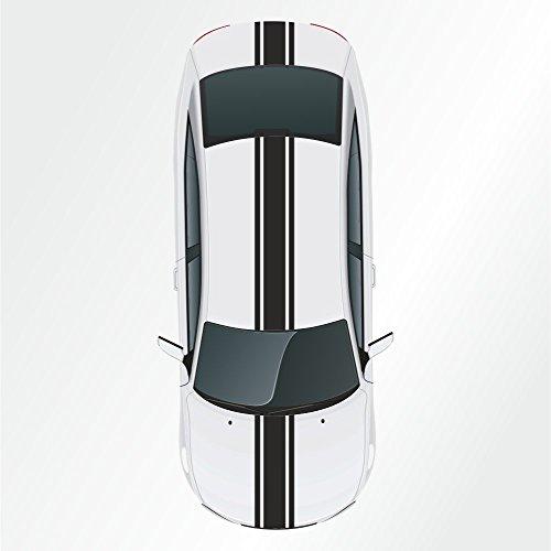 Kiwistar - Strisce adesive a vipera, modello rally, dimensioni 36 x 400 cm