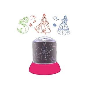 LEXIBOOK Disney Princesas - Luz Nocturna, quitamiedos con proyecciones de Las Princesas de Disney, luz Decorativa en Color - NLJ030DP