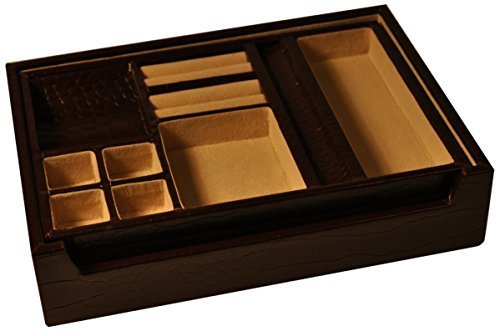 budd-leather-croco-grain-leather-open-valet-with-lift-out-tray-brown-by-budd-leather