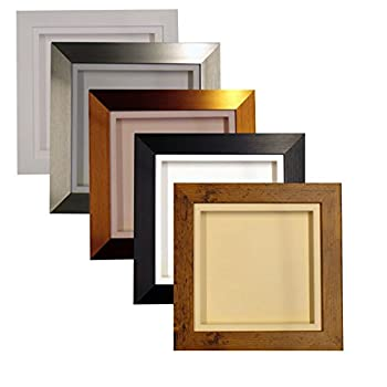 "3d Deep Box Picture Frame Display Memory Box For Medals Memorabilia Flowers Etc (White, 10x10"") 4"