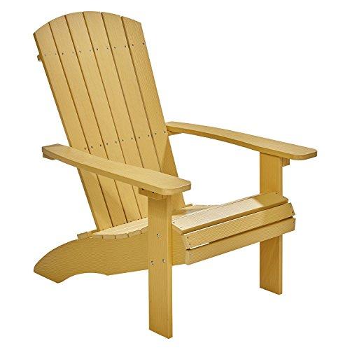 NEG Design Adirondack Stuhl MARCY (gelb) Westport-Chair/Sessel aus Polywood-Kunststoff (Holzoptik, wetterfest, UV- und farbbeständig)