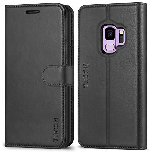 TUCCH Galaxy S9 Hülle Handyhülle TPU [Magnetverschluss] [Kartenfächern] [Standfunktion] [Premium Leder] Wallet case Schutzhülle für Samsung Galaxy S9 2018 (5,8