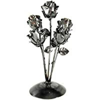 """Bouquet of Eternal Roses Forged Personalized with pedestal """"Ideal for Mother's Day gift, Valentine, Bride, Couple, Birthday, Christmas"""""""