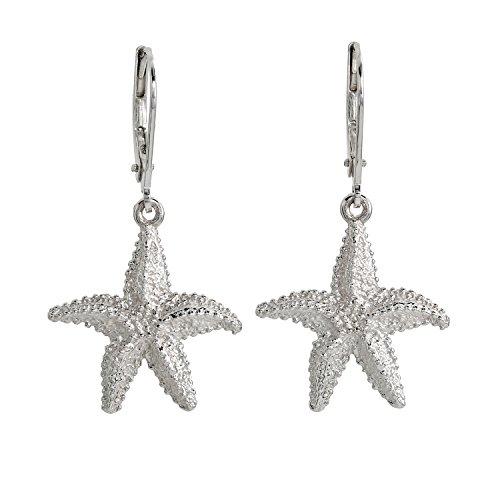 Pfeffinger Damen-Ohrhänger Ohrringe Sterling-Silber 925 rhodiniert Seestern