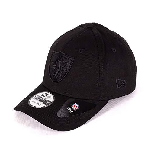 New Era 9Forty Snapback 2 Adjustable Cap Oakland Raiders Schwarz Schwarz, Size:ONE Size