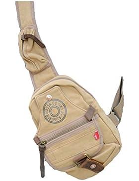 Vogstyle Herren Vintage Klein Schultertasche Messenger Bag Freizeittasche Umhängetasche