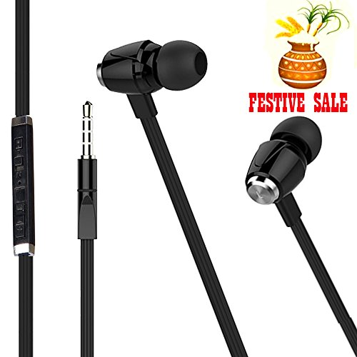 NEW Joy Digital METAL FINISH Universal HiFi Noise-Isolating High Bass In-Ear Piston Earphone with 3.5mm Jack , With Mic - HS-007-BLACK