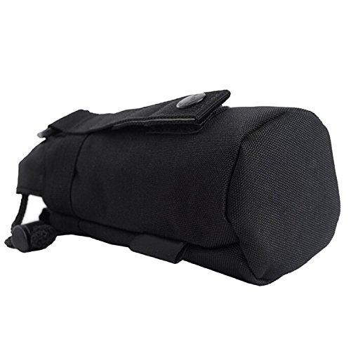 Im Freien Sport Tactical Gear militärische Trinkflasche Tasche Wasserkocher Pack f Schwarz