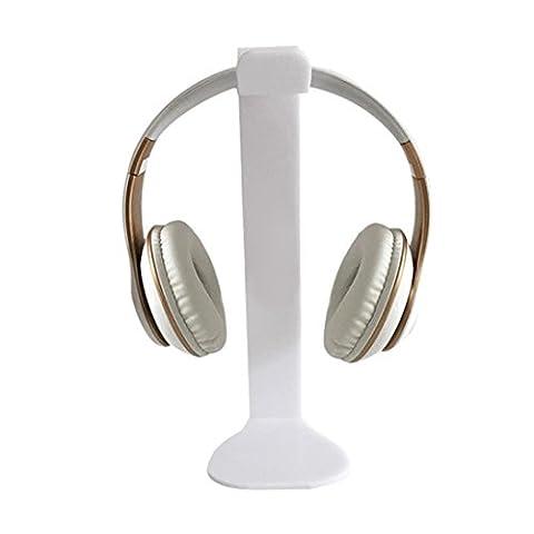 Huihong Universelle Acrylic Kopfhörer Headset Halterung Halter Ständer Standplatz Aufhänger für Spiel Kopfhörer (Weiß)