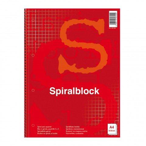 Spiralblock A4, kariert, 80 Blatt