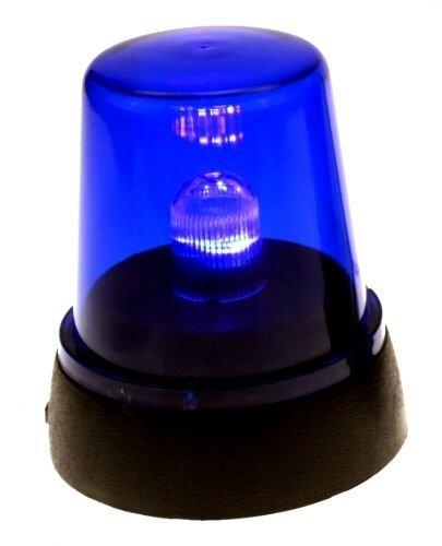 LED-Signallampe * POLIZEI * in Blau zur Dekoration // Rundumlicht Deko Motto Geburtstag - Party Feuerwehr