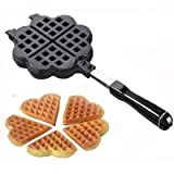 Treasure-House Cuisinière d'aluminium gaufrier Belge Coeur Waffle Maker -4 Heart-Shaped Slice