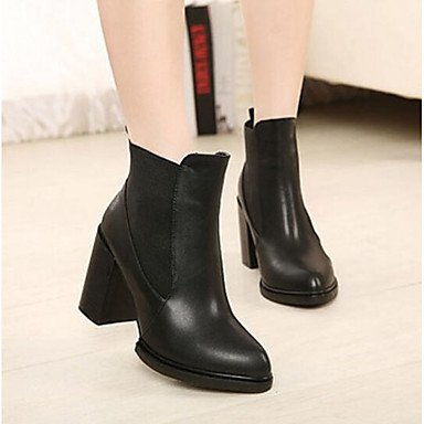 pwne Donna Stivali Comfort Pu Molla Casual Stiletto Heel Nero 4 In-4 3/4In Black Us8 / Eu39 / Uk6 / Cn39 US5.5 / EU36 / UK3.5 / CN35