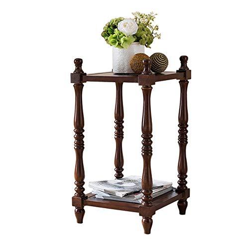 YINUO Américain massif support de fleurs en bois simple salon coin pots de fleurs maison balcon bonsaï téléphone quelques coins Redwood Taille: 36x36x68cm