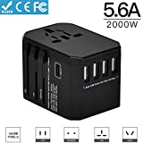 Die besten Travel Adapters - Yarrashop Internationale Reiseadapter USB Universal Stecker Travel Adapter Bewertungen