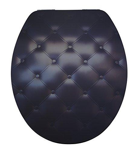DIAQUA WC-Sitz Lyon Slow-Motion, Black sofa, MDF FSC 100%, 42-47 x 37,8 cm, schwarz, 31171503 - Motion-sofa