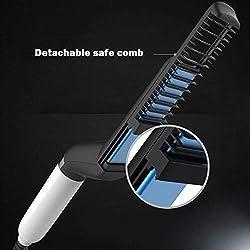 Peigne à Cheveux Electrique,Rameng Lisseur Styler pour Cheveux Rapide pour Homme Multifonctionnel Cheveux Curling Voir Cap Outil