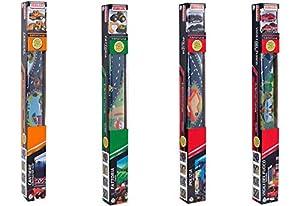 Globo Juguetes globo-3696080x 70cm 4Assorted Spidko Die Cast Vehículos con mapa (2piezas) , Modelos/colores Surtidos, 1 Unidad