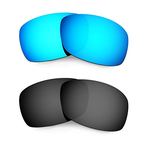 HKUCO Plus Mens Replacement Lenses For Oakley Hijinx Sunglasses Blue/Black Polarized