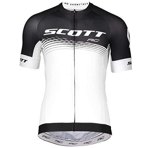 Scott RC Pro Fahrrad Trikot kurz weiß/schwarz 2019: Größe: L (50/52)