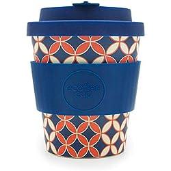Ecoffee Cup: Master Spiros con Silicona Azul Oscuro 8 oz