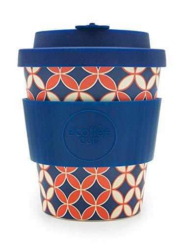 Ecoffee Cup - 8oz Master Spiros with Dark Blue Sil Sili Cups