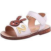 ♬ GongzhuMM Sandales Bébé Fille 21-30 Chaussures de Sport Fille Été Ballerines Fille Baskets Shoes Anti-dérapant Confortable pour 1-6 Ans Fille