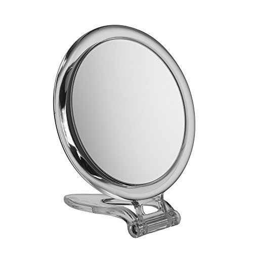 10x Agrandissement Circulaire Acrylique Pli Compact De Voyage Miroir