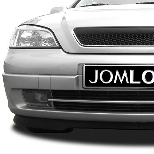 JOM 6320027MOE Kühlergrill ohne Emblem mit Chromrahmen und Wabengitter, schwarz