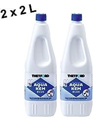 Thetford AQUA KEM BLUE 2x 2 Liter Sanitärflüssigkeit WC Zusatz Camping Toilette