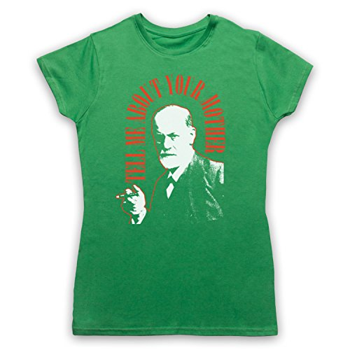 Sigmund Freud Tell Me About Your Mother Damen T-Shirt Grun
