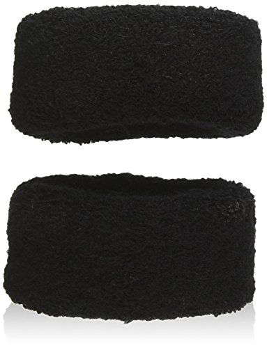 Sourcingmap élastique Queue de cheval support Cheveux Cravate Bande 6,1 cm, Noir – 2 Pièces