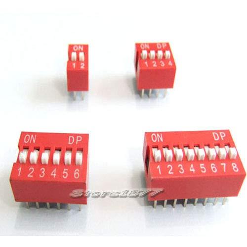 FidgetGear - Lote de 40 interruptores Dip de 2