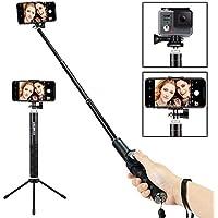 Foneso Bluetooth Selfie Stick mit Stativ für Smartphone, Kamera Schwarz