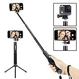 Foneso Palo para Selfie Bluetooth y trípode para Smartphone o Cámara, Color Negro