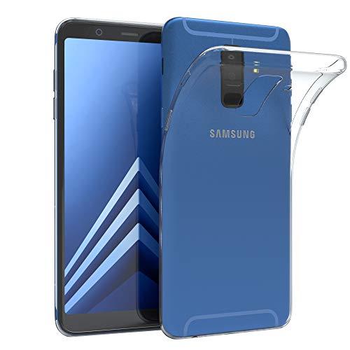 EAZY CASE Hülle für Samsung Galaxy A6 Plus (2018) Schutzhülle Silikon, Ultra dünn, Slimcover, Handyhülle, Silikonhülle, Backcover, Durchsichtig, Klar Transparent