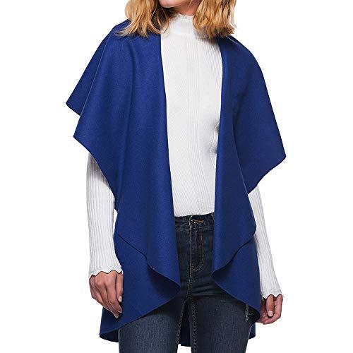 Damen Strickjacke Cardigan Flügelhülse Shirt Wasserfall Strickmantel Locker Oversive Kimono Cardigan Mantel Herbst Winter Jacke von Innerternet