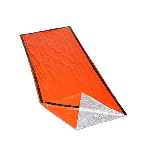 HWCP.CP Sac De Couchage Extérieur Étanche Isolation Thermique Sac De Couchage De Sauvetage en Plein Air Camping Et Randonnée, Orange 213 × 91Cm (2 Pack)