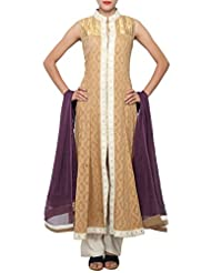 Kalki Fashion Brown Anarkali Suit Embellished In Gotta Patti Embroidery Only On Kalki