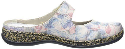 Rieker - 46394 Women Clogs, Zoccoli Donna Multicolore (Mehrfarbig (blau-multi / 90))