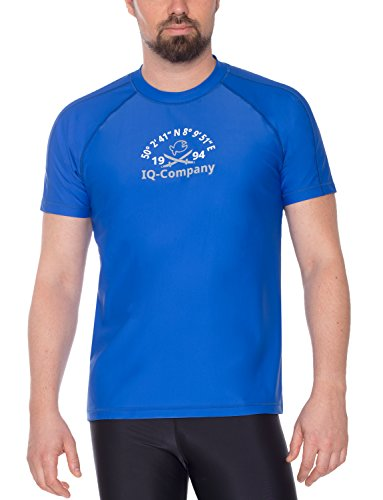 iQ-Company Herren T-Shirt UV-Schutz 300 Loose Fit Watersport 94,Blau(dark-Blue),M (50) -